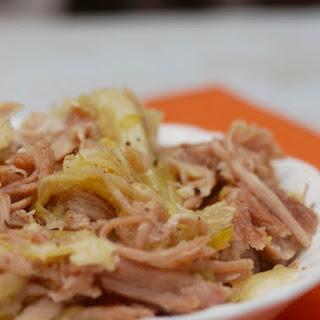 Hawaiian Slow Cooker Kalua Pork & Cabbage.