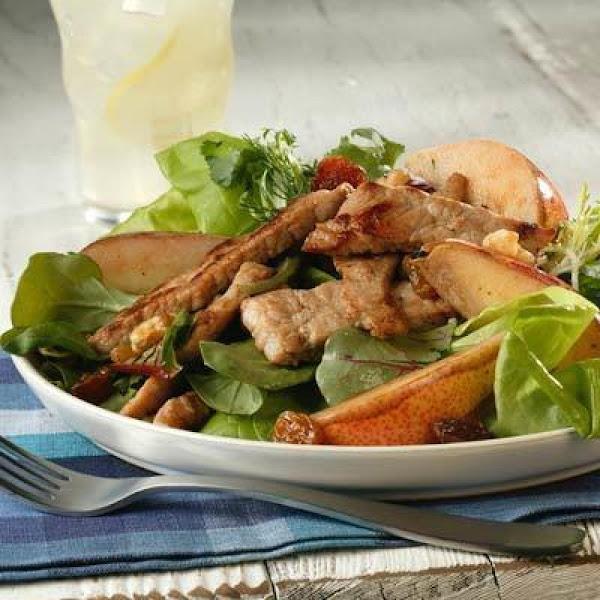 Walnut And Hot Pork Pear Salad Recipe