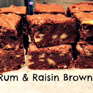 Rum & Raisin Brownies.