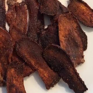 Mushroom Bacon (King Oyster Mushrooms).