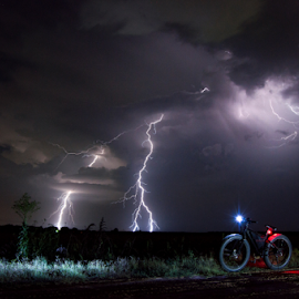 Sonder Storm by Brian Box - Landscapes Weather ( lightning, longexposure, weather, weatherphoto, ebike, thunderstorm, nikond3200, stormynight )