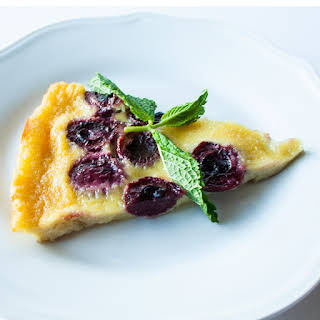 Flourless Bing Cherry Clafoutis (aka baked custard).