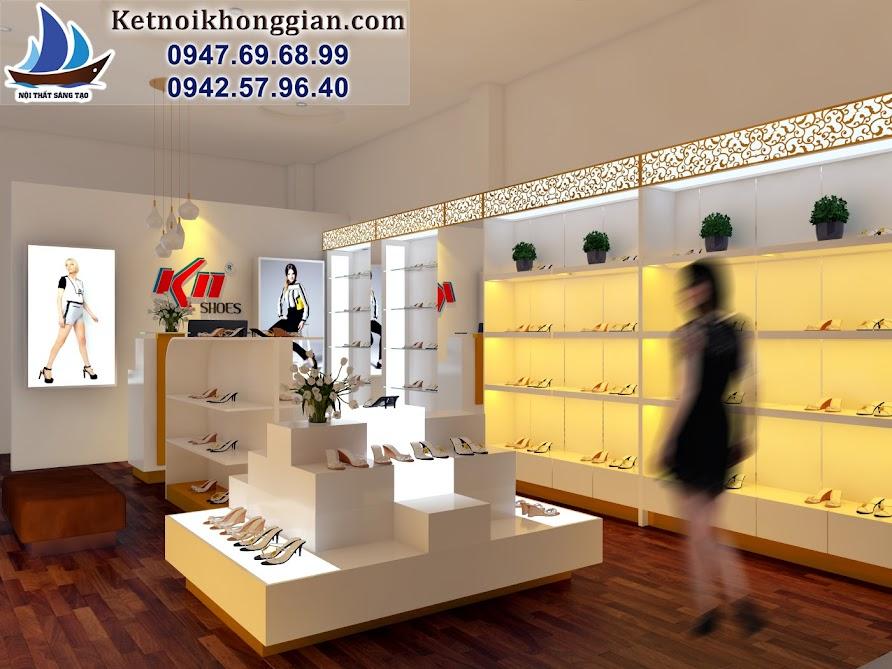thiết kế shop giày diện tích nhỏ đẹp và hợp lý