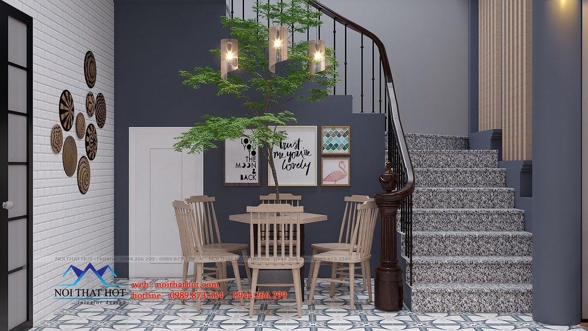 thiết kế quán trà sữa green 8