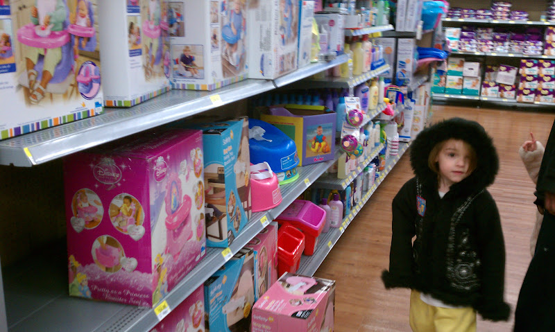 Photo: We had to stop by the baby aisles.