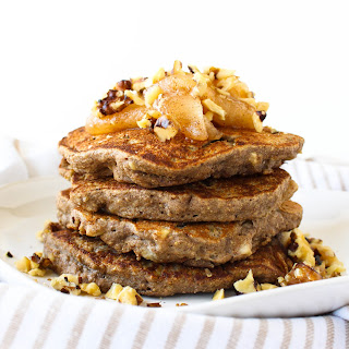 Apple Walnut Buckwheat Pancakes