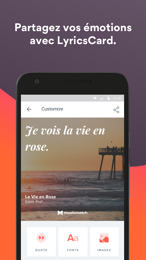 Musixmatch Paroles de chanson – Capture d'écran