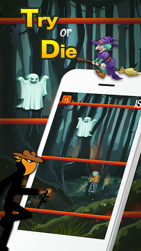 Code Triche Survie de stickman effrayant - Halloween Escape Ju APK MOD screenshots 4