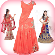 Lehenga Choli Image Editor: Suit Choli Photo Frame
