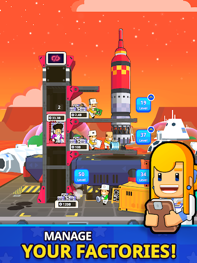 Rocket Star - Idle Space Factory Tycoon Game android2mod screenshots 12