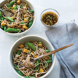Sesame Soba Noodles with Tofu and Sugar Snap Peas Recipe