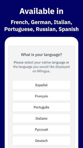 Wlingua - English Language Course Android App Screenshot