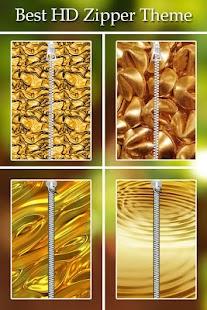 Gold Zipper Lock screenshot