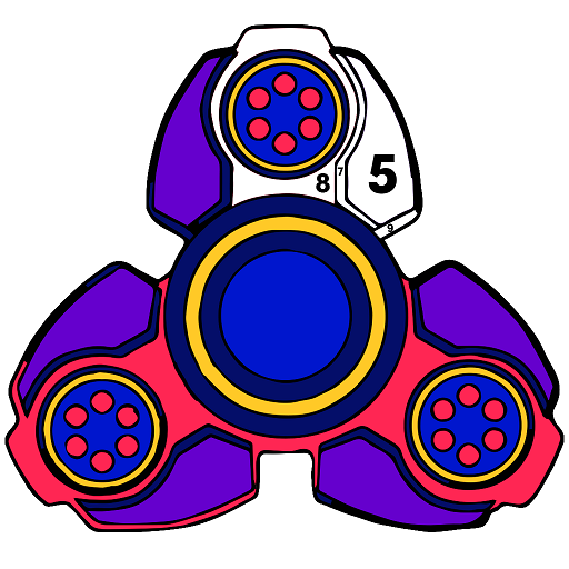 Fidget Spinnner Paint by Number - Adult Color Book Icon