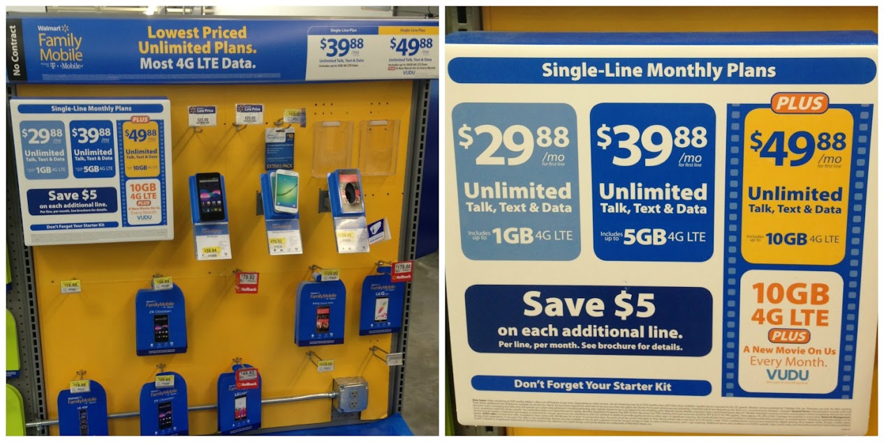 Walmart Family Mobile Plans at Walmart - Unlimited Talk, Text & Data
