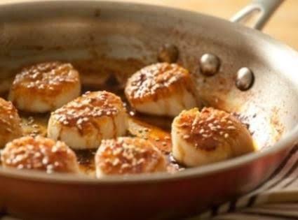 Honey-glazed Scallops
