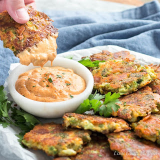 Broccoli Fritters With Cheddar Cheese (Easy Low Carb Recipe).