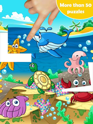 54 Animal Jigsaw Puzzles for Kids 🦀 screenshots 2