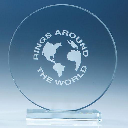 10cm Smoked Glass Circle Award