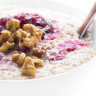 Cranberries and Cream Steel Cut Oats