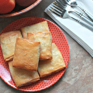 Baked Brie and Spiced Peach Strudels