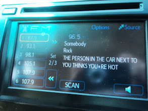 Photo: Listening to Seattle's version of BEN FM (called Jack FM). Kept displaying random messages while playing songs. This was one of the more amusing ones