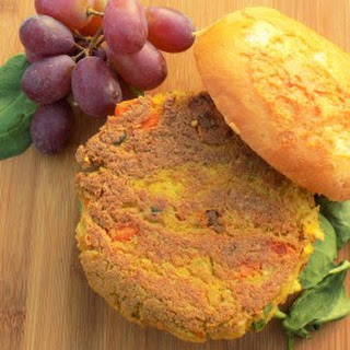 Curry Carrot Chickpea Burgers