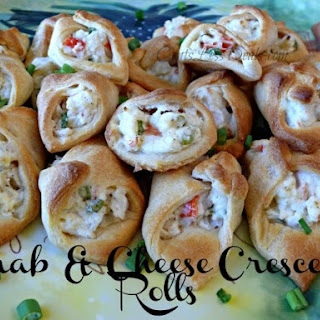 Crab & Cheese Filled Crescent Rolls.