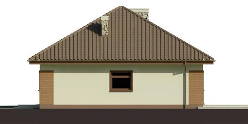 Dom przy Niezapominajek 2 - Elewacja prawa