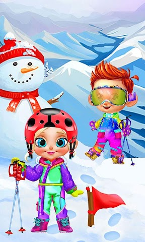 android Crazy Winter Trip - Ski Resort Screenshot 1