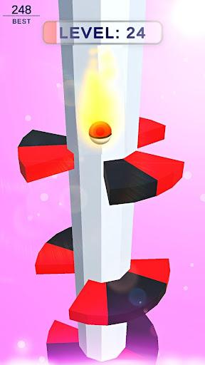Drop Down  bounce jumpy ball - Helix tower fall  screenshots 1