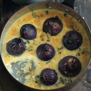 Baked Onions In Brie Custard