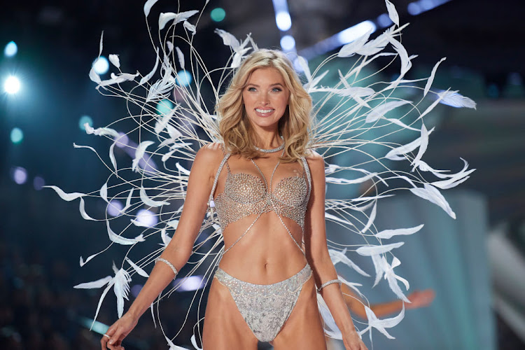 Elsa Hosk models Victoria's Secret's 2018 'Fantasy Bra' made of 2,100 Swarovski diamonds and worth $1m.