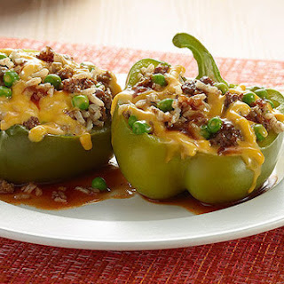 VELVEETA® Fresh Slow Cooker Stuffed Peppers.