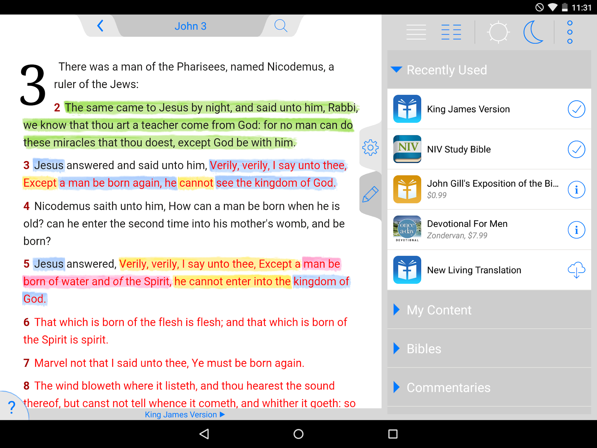 NKJV Bible screenshot #11