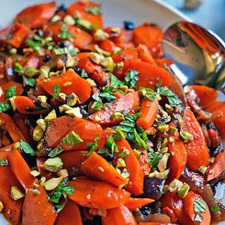 Spicy Uzbeki Carrots with Currants, Goji Berries and Pistachios