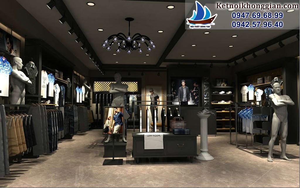 thiết kế cửa hàng thời trang nam chuyên nghiệp chất lượng cao
