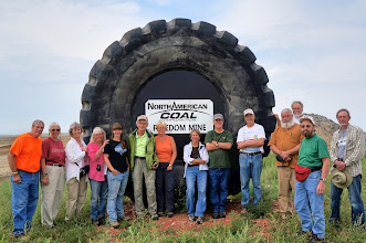 Photo: We were given a great tour of this lignite mine, during which this group photo was taken. Unfortunately, while we were allowed to take photos, we promised not to post them publicly, so the photos don't appear here.