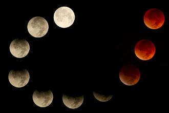Photo: Composite of eclipse progression