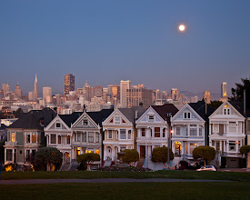 Photo: Painted ladies in the blue hour shortly after sunset.