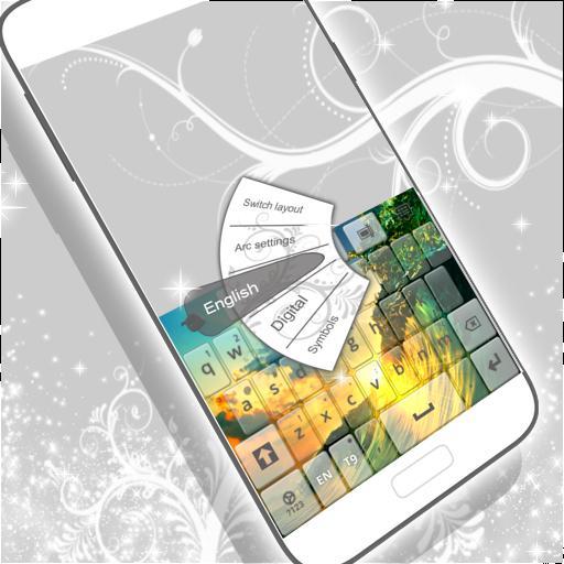 GO 키보드 백색 색깔 個人化 App LOGO-APP開箱王
