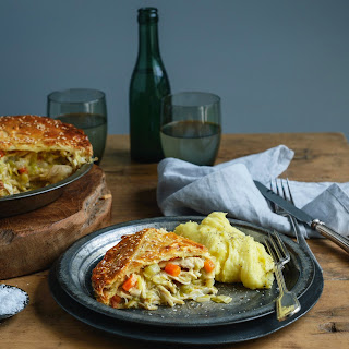 Mega-Comfort Chicken & Leek Pie with Paris Mash