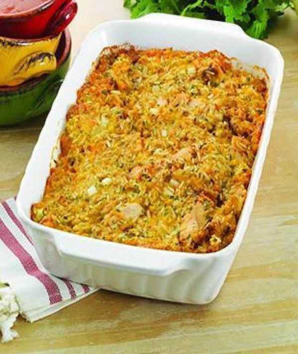 Creamy Corn, Chicken & Rice Bake
