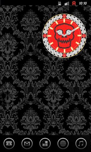 SKULL CLOCK ver5 ace red G