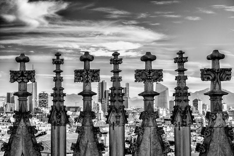 Grattacieli dal Duomo di Milano di zucco