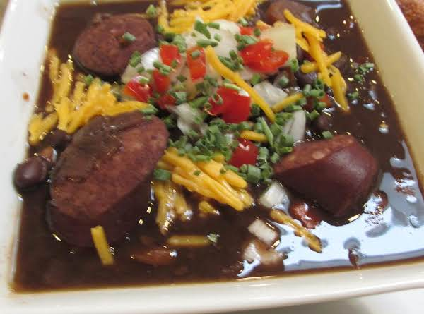 Black Bean Soup With Smoked Kielbasa Sausage Recipe