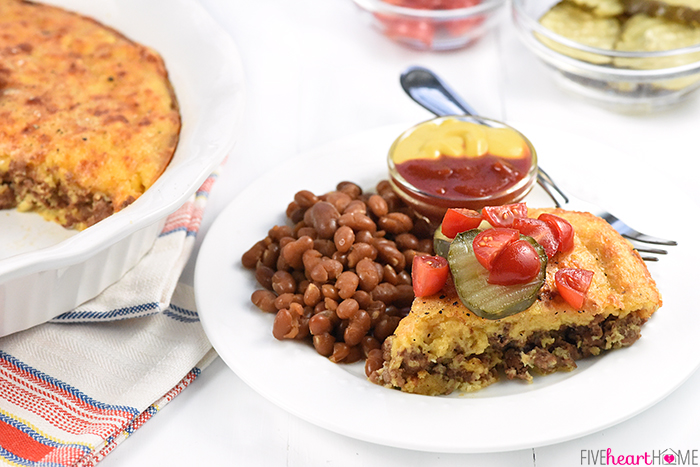 Cheeseburger Pie { without Bisquick }