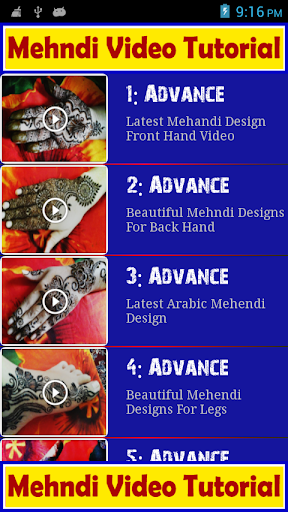 Mehndi Video Tutorial Free for PC