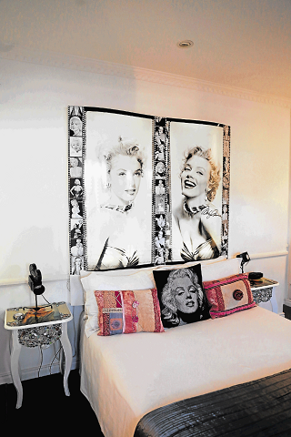 WITH A DIFFERENCE: The Marilyn Monroe room and the Robinson Crusoe room are two of the themed bedrooms at the Stumble Inn guesthouse situated in Nahoon.