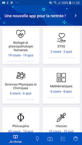 Bac ST2S 2020 Android App Screenshot